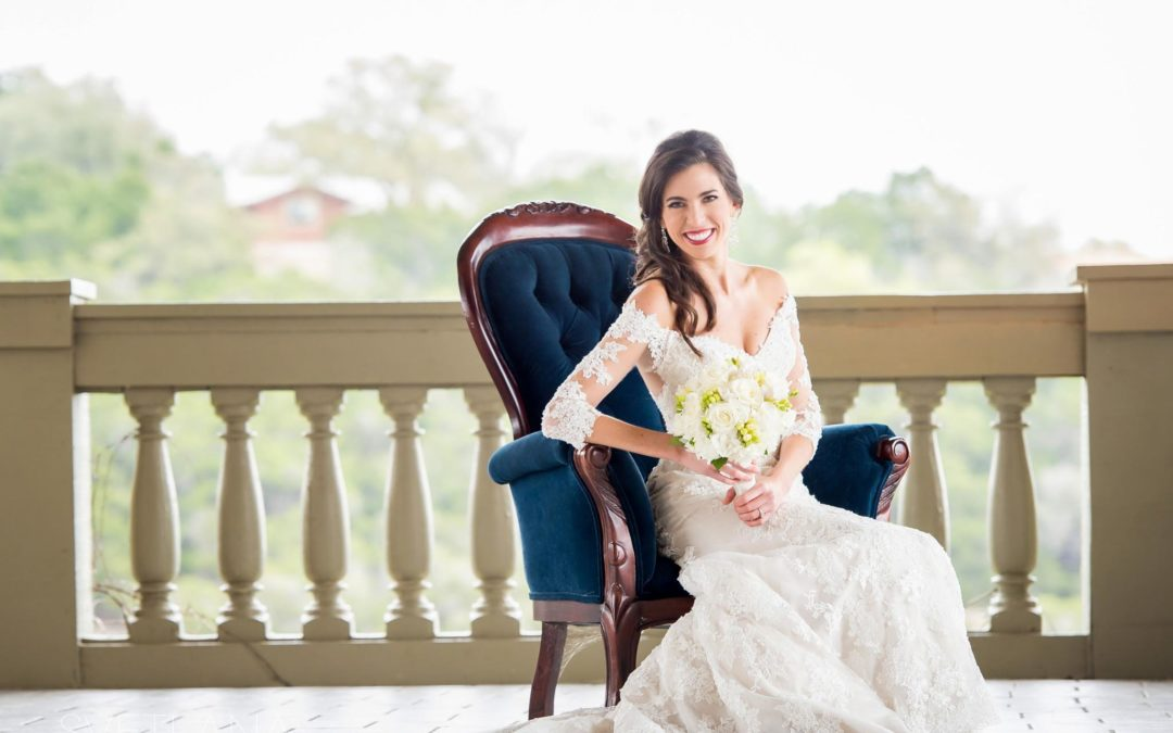 Bridal Portraits at Villa Antonia