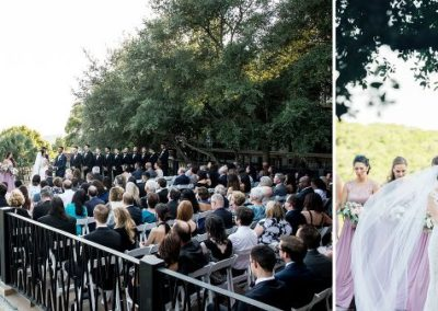 Outdoor Ceremony on the Lakeview Terrace.
